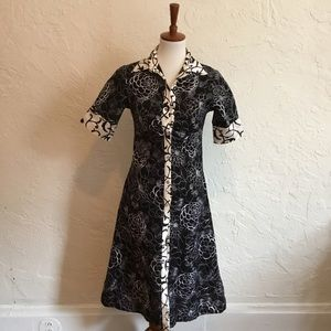 Dresses & Skirts - Cotton and silk shirt dress. Size small.